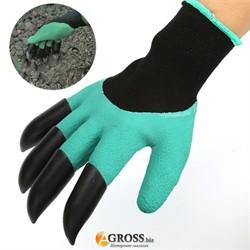 """Перчатки садовые Garden Gloves - 10"""" с когтями - фото 9768"""